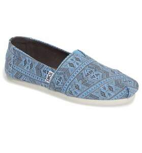a3d70162fbe Image is loading TOMS-WOMEN-CLASSIC-CORNFLOWER-BLUE-FOREST-TRIBAL-ORIGINAL-
