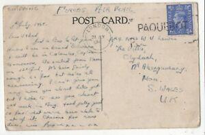 London-1948-Paquebot-Postmark-British-India-Transport-MV-Dilwara-Postcard-057c