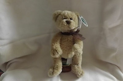 Bearington Bearington Bear Fritz And Stand,#1086t,new,beige W/brown Bow