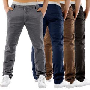 Men-039-s-Business-Chino-Trousers-Pants-Straight-Leg-Slim-Fit-Trousers-Bottom-Slacks