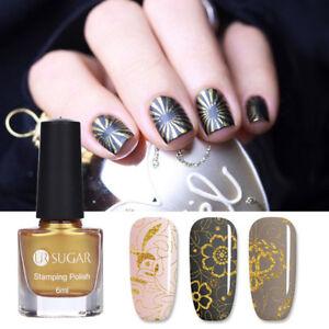 6ml Gold Stamping Nail Polish Plate Printing Manicure Nail Art