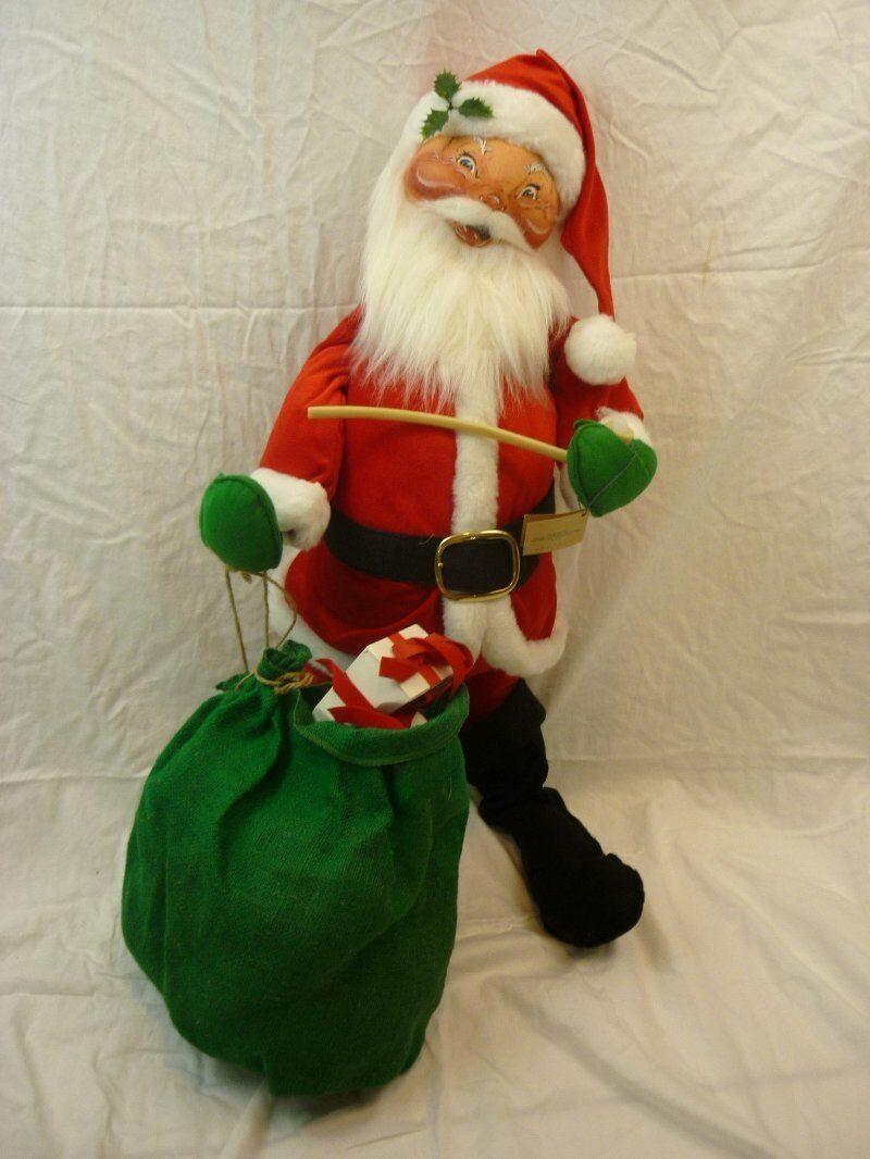 ANNALEE muñecas de 30  De Terciopelo De Santa w pipe Bolsa Navidad 1992 6210 al187