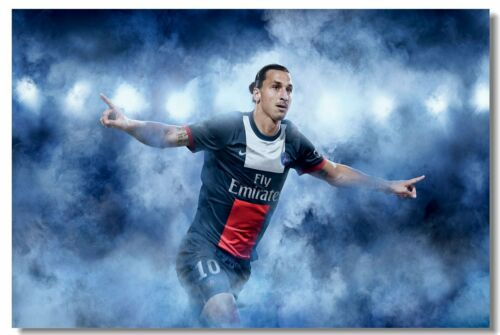 Poster Zlatan Ibrahimovic Football Soccer Star Art Wall Cloth Print 518