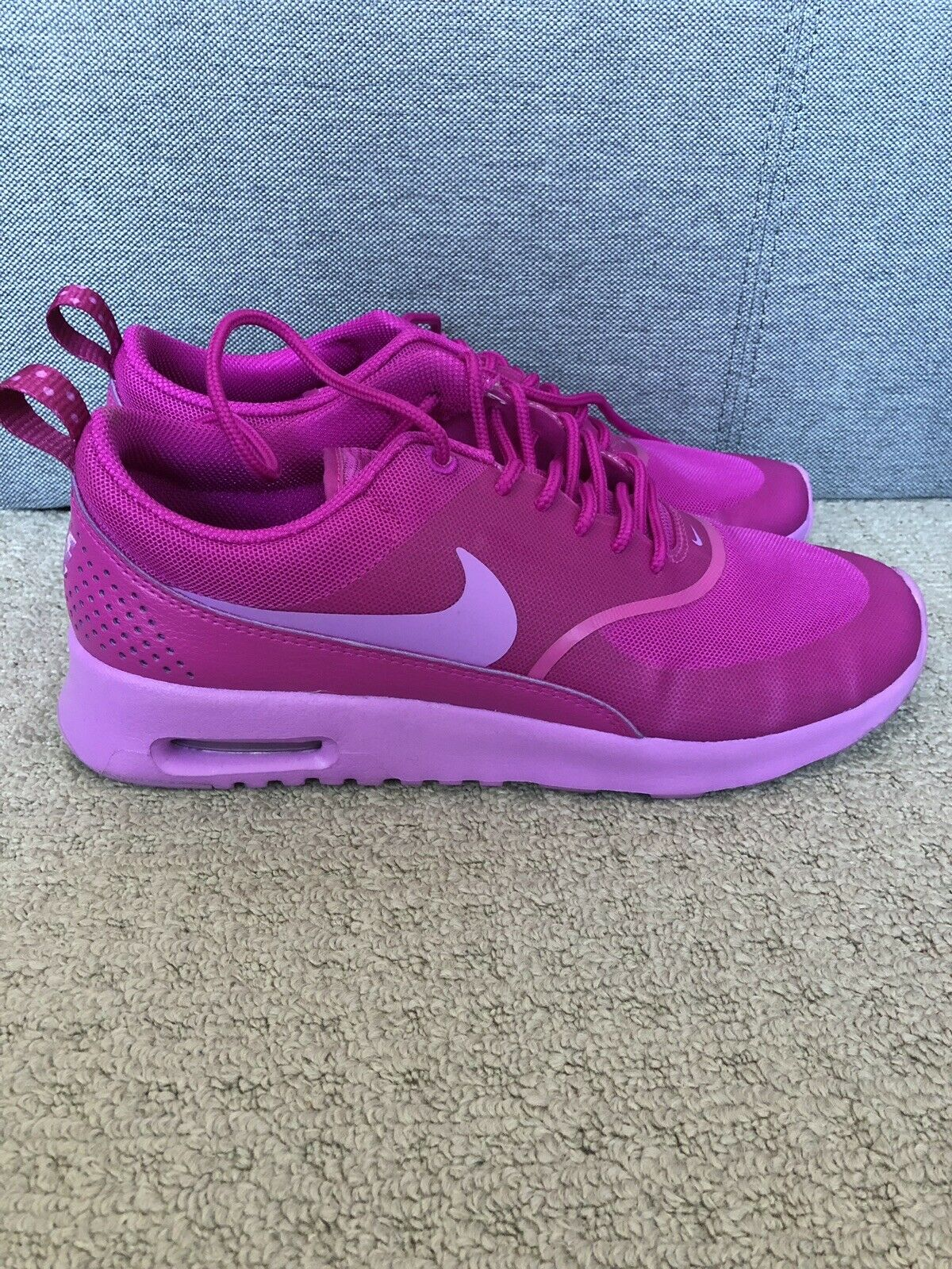 Nike Womens Purple Air Max Thea Trainers Size 6