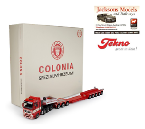 Tekno 68926 MAN TGX XXL with goldhofer XLE Low Loader Colonia 1 50 Scale