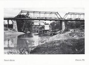 19235-Postcard-Dallas-TX-Trinity-River-modern-card