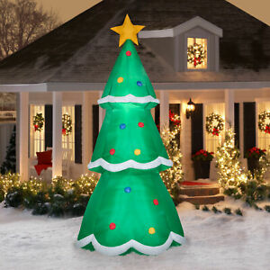 10' Tall Giant Light Up Christmas Tree Airblown Inflatable ...