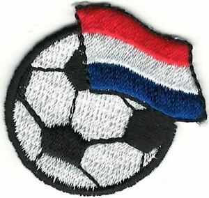 Football Voetbal Néerlandais Pays-Bas Neerlandais Holland Drapeau Broderie Patch