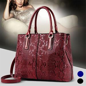 Luxury-Women-039-s-Leather-Elegant-Handbag-Tote-Shoulder-Messenger-Travel-Bag