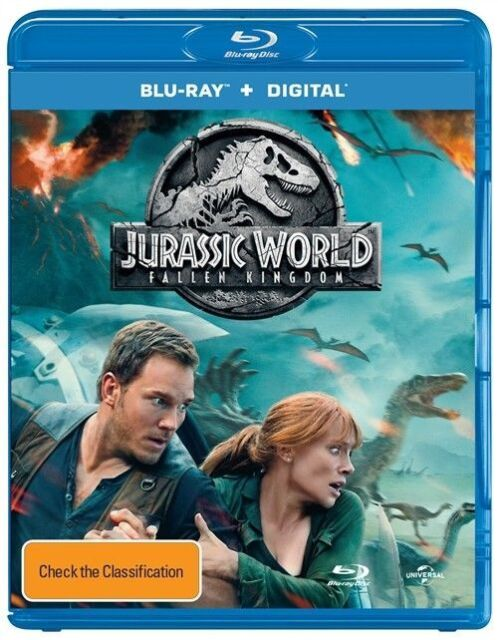 Jurassic World 2 - Fallen Kingdom (Blu-Ray + Digital Copy, 2018) New & In Stock