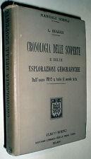 Manuali Hoepli Luigi Hugues Cronologia delle scoperte e esplorazioni geografiche