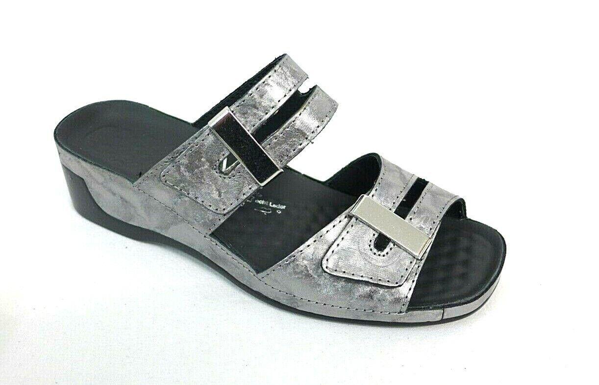 Vital Damen Schuhe grau Größe 40 TINA 0836 Echtes Leder Massagenoppe