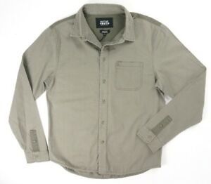 NEW-NATIVE-YOUTH-MUTED-OLIVE-ROCKHAM-MILITARY-INSPIRED-COTTON-TWILL-SHIRT-SZ-M