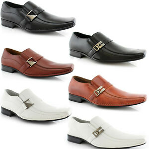 MEN-BUCKLE-STRAP-ON-CLASSIC-LOAFERS-CASUAL-LEATHER-WORK-DRESS-OXFORD-SHOE