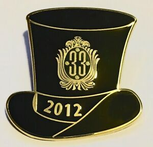 Disneyland - Club 33 - 2012 New Years Eve Event - Top Hat Pin