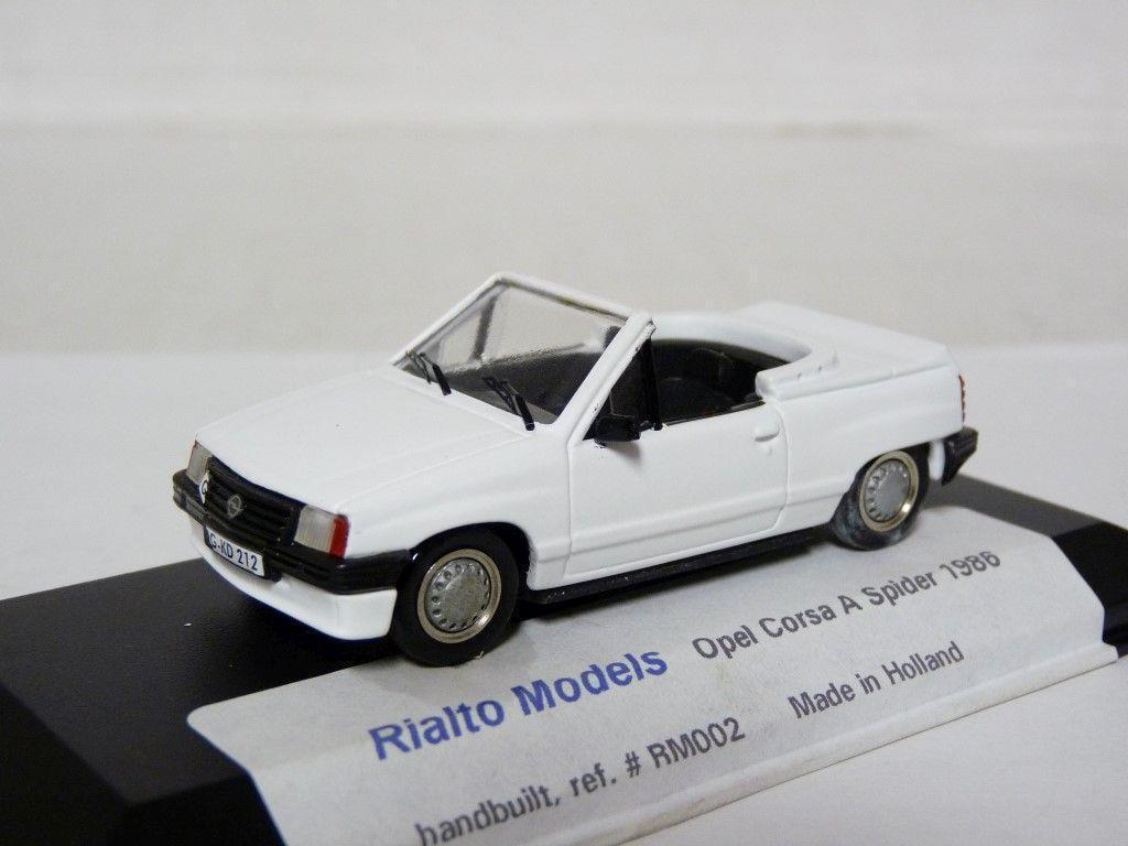 Rialto RM002 1 43 1986 OPEL Corsa A Spider résine fait main modèle voiture