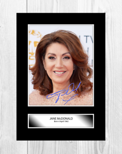 Jane-McDonald-A4-signed-mounted-photograph-picture-poster-Choice-of-frame