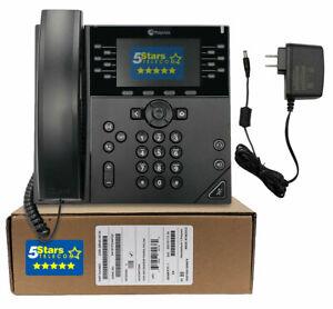 Polycom VVX 450 IP Phone w/AC Power (2200-48840-001) Brand New, 1 Year Warranty
