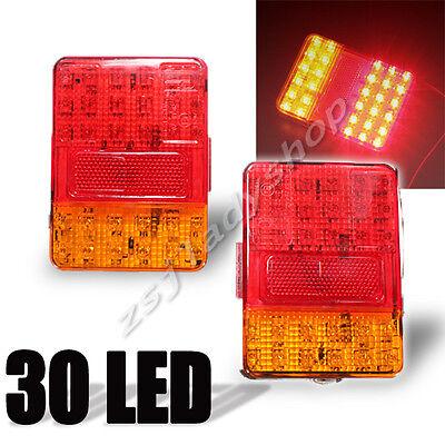 2x 12V 30 LED Taillight REAR Truck Car Van Lamp Tail Trailer Light E-Marked New