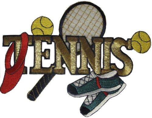 """#3062M 6-1//8/""""x4-5//8/"""" Embroidery Iron On Tennis Applique Patch"""