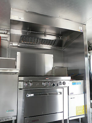 5 FT TYPE l COMMERCIAL KITCHEN EXHAUST HOOD W/ BLOWER /  CURB FOR CONCESSION