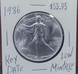 1986-Silver-American-Eagle-BU-1-oz-Coin-1-Dollar-Uncirculated-Mint-First-Year