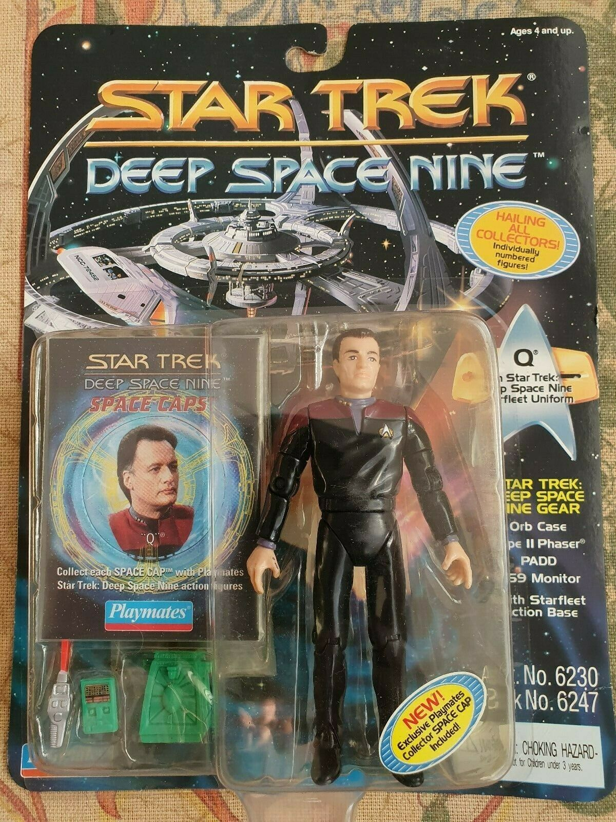 PLAYMATES STAR TREK DEEP SPACE NINE SEALED ON CARD ACTION 4