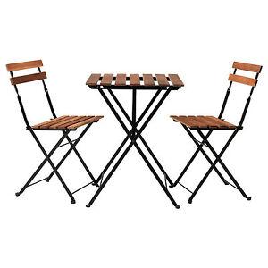 Ikea Tarno Serie Klappbarer Balkon Tisch Stuhl Massive Akazie