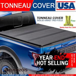 Fits 2014-2018 GMC Sierra 1500 Solid Hard Tri-Fold Tonneau Cover 5.8ft Short Bed
