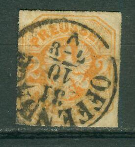 Preussen-23-gestempelt-2-Kreuzer-Freimarke