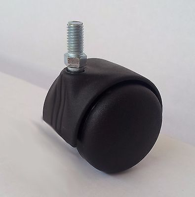 GXING Rotelle Sedia da Ufficio M8 4 Pezzi M10 Ruota Girevole per Mobili Ruote Girevoli per Pavimenti Duri con Freno 5 Pezzi