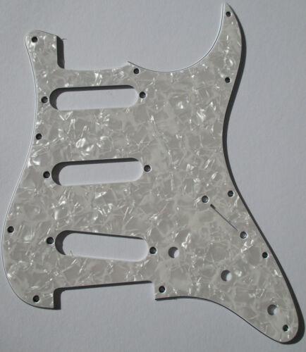 Pickguard für Strat Schlagbrett scratchplate 11loch ST-413-PW pearl weiß 4 lagig