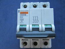 Schneider Merlin Gerin C60H 2584 MG MCB Circuit Breaker B32 B6 B16 D32 C32