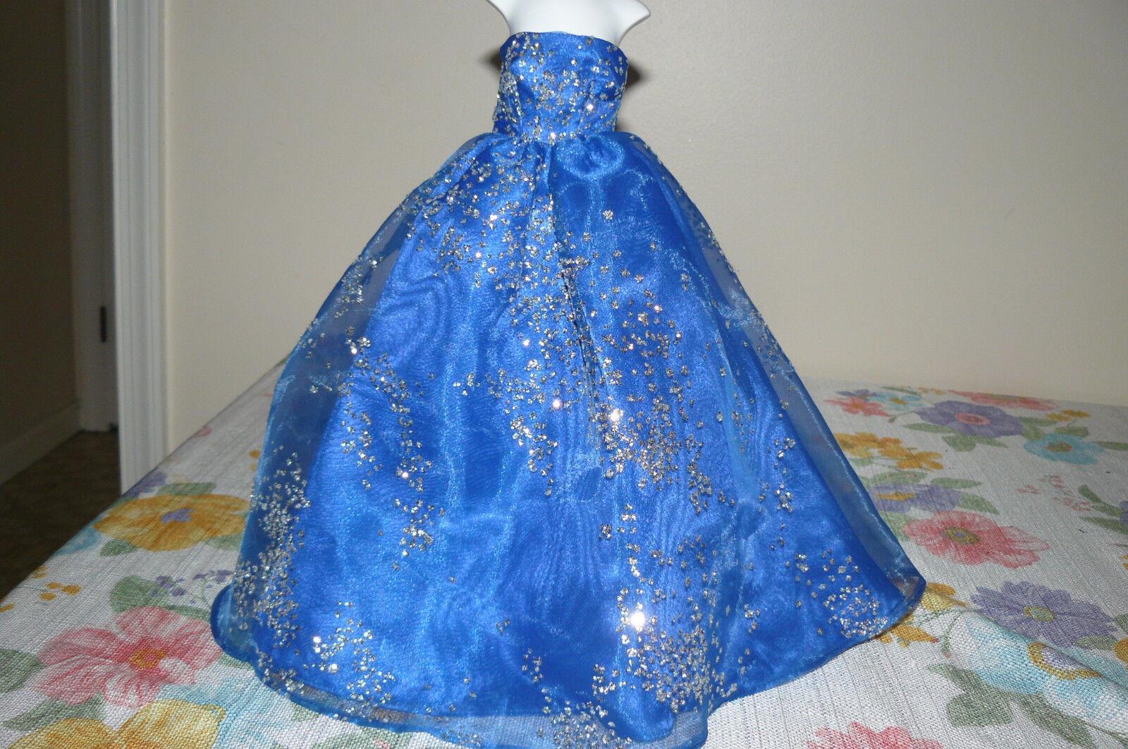 Organza personalizado hecho sin mangas Baile de graduación de Gala para FM Princesa Diana 16 en muñeca