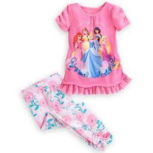 19c4062779 DISNEY STORE DISNEY PRINCESS 2-PIECE SLEEP SET GIRLS PAJAMAS PJ S ...
