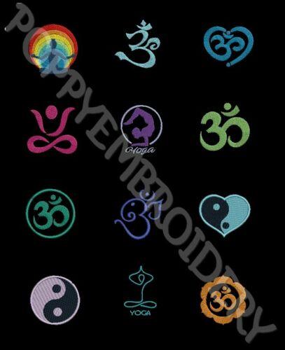 YOGA motifs broderie machine ZEN OM symbol Designs for Embroidery machine