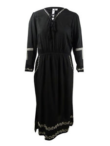 NY-Collection-Women-039-s-Plus-Size-Maxi-Peasant-Dress