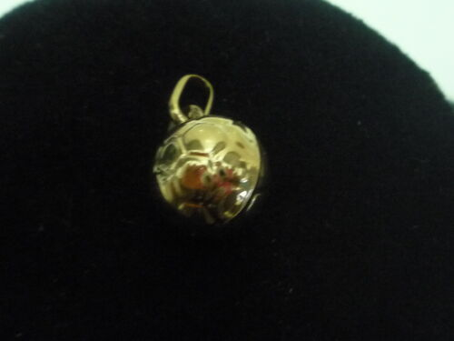 new 9ct yellow gold football charm pendant made in italy