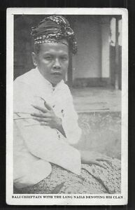 Bali Chief Chieftain long Fingernails Indonesia 30s