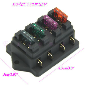s l300 fuse holder box 4 way car vehicle circuit automotive blade fuse 4 way fuse box at gsmportal.co