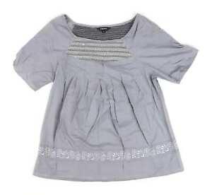 Papaya-Grey-Cotton-Womens-Top-Size-12-Regular