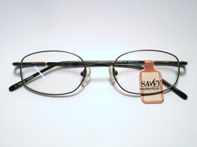 New Mens Metal Eyeglass Frame Savvy 218 GRY 48-19-135 | eBay