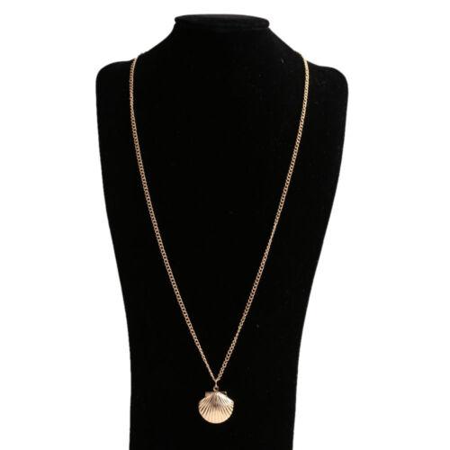 Cute Sea Shell Design Opened Pendant Locket Chain Necklace Mermaid Jewelry