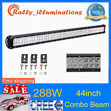 CREE 44inch 288w led work light bar spot&flood driving lamp truck boat tractor