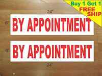 By Appointment 6x24 Real Estate Rider Signs Buy 1 Get 1 Free 2 Sided