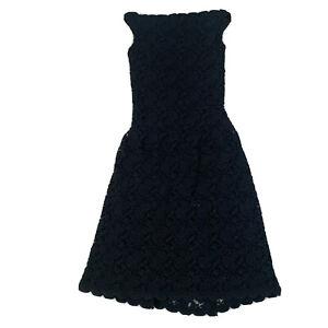 Sasha Drake Women's Size 12 Stretch Black Lace Dress Fully Lined
