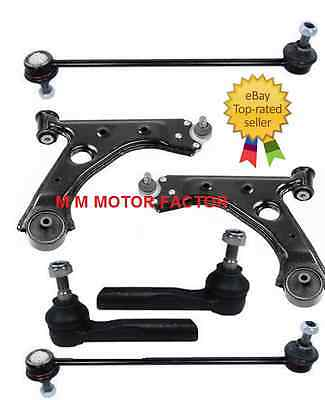 FIAT PUNTO GRANDE 05-TWO FRONT LOWER WISHBONE ARMS /&TWO ANTI ROLL BAR LINKS