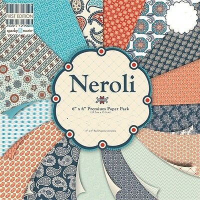 """First Edition Neroli Sample Paper Pack (16 sheets x 6x6"""" size)"""