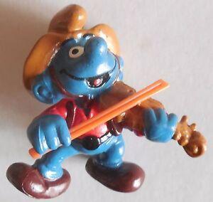 PUFFI-SMURFS-PUFFO-MUSICISTA-WESTERN-SCHLEICH-MADE-IN-HONG-KONG-1983-PEYO-BERRIE