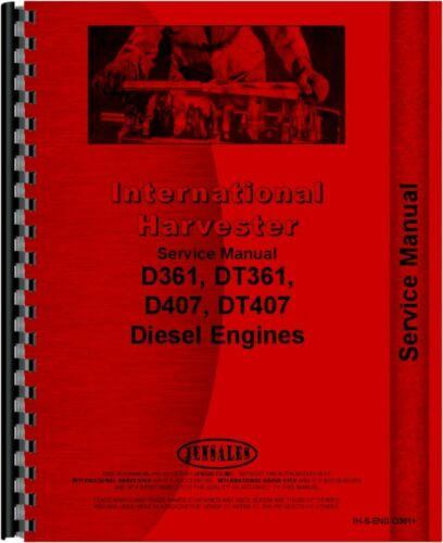 International Harvester Diesel Combine Engine Service Manual IH-S-ENG D361+